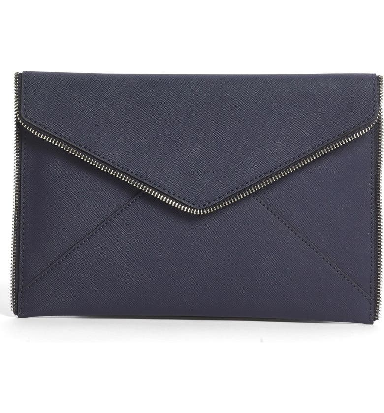 REBECCA MINKOFF 'Leo' Envelope Clutch, Main, color, 400
