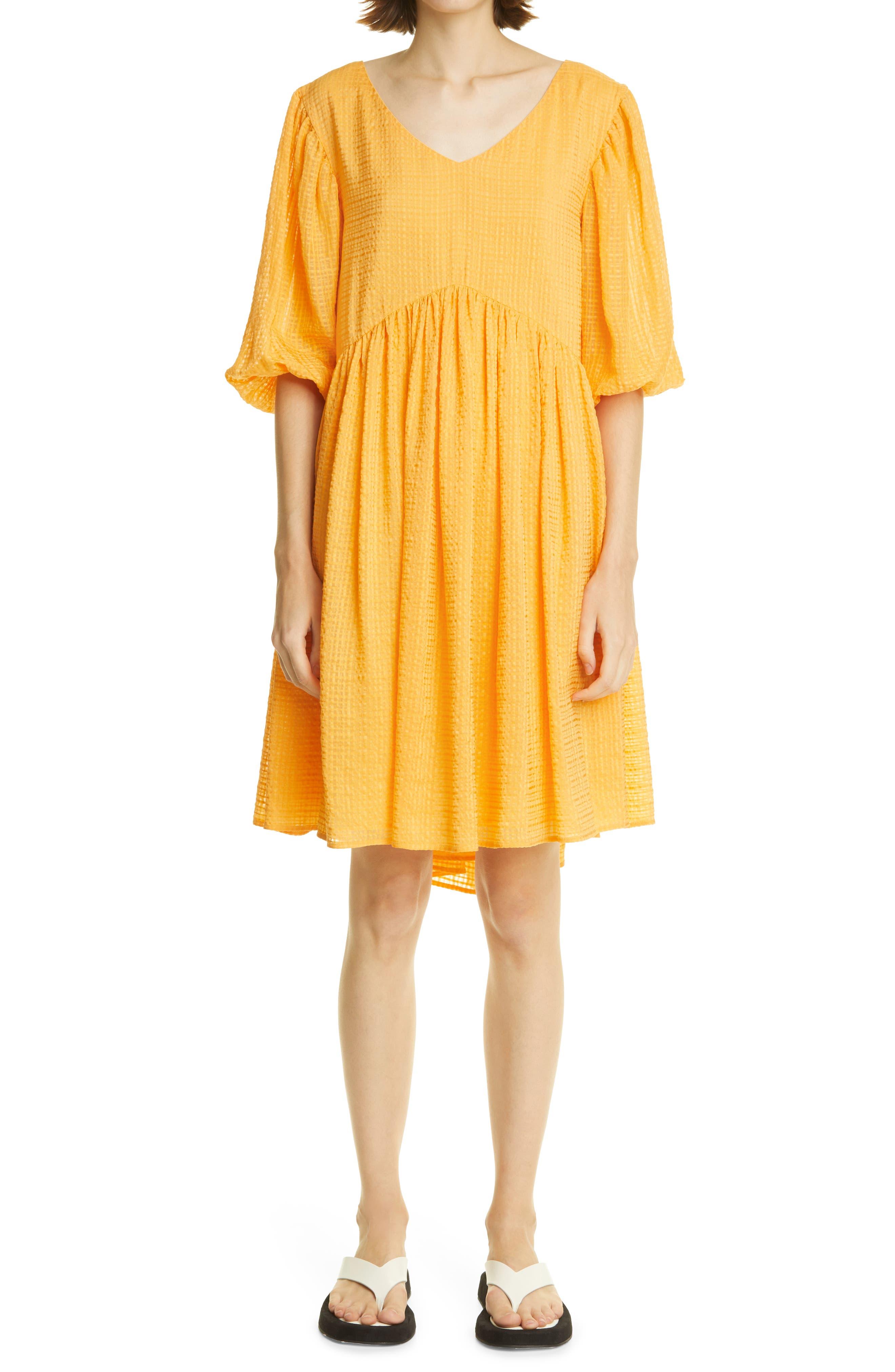 Miller Check Linen Blend Sack Dress