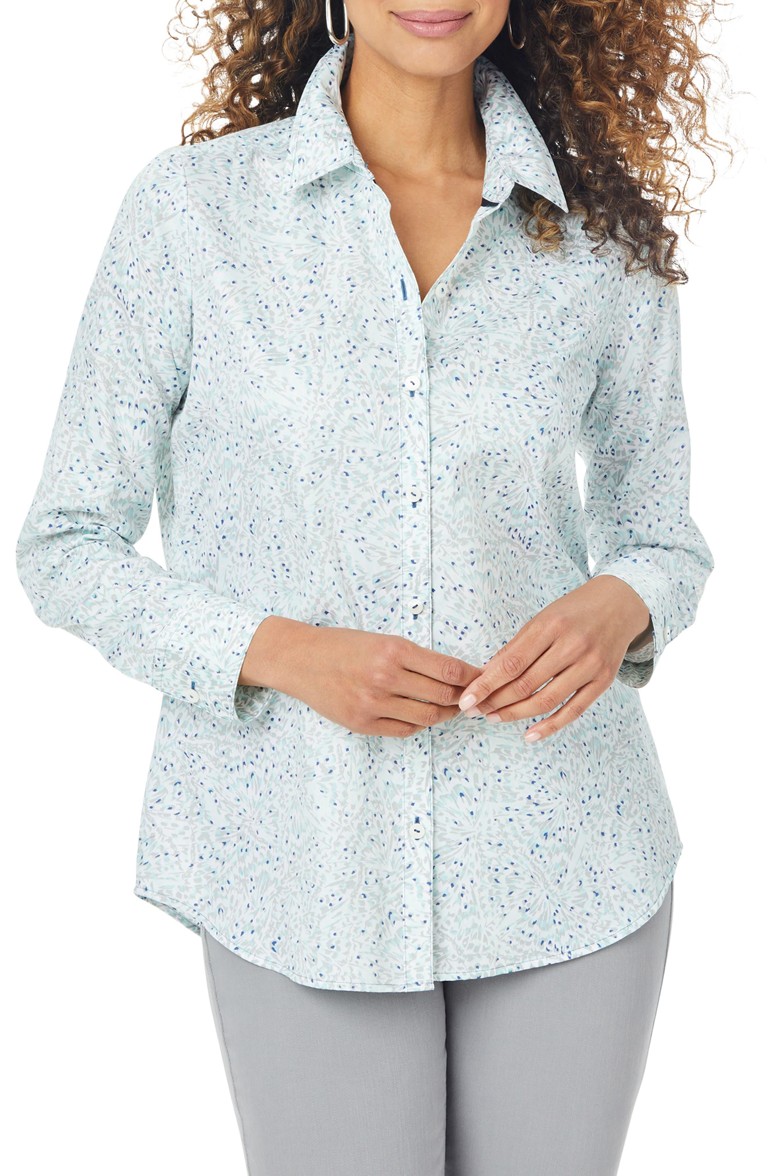 Davis Butterfly Frost Non-Iron Button-Up Shirt