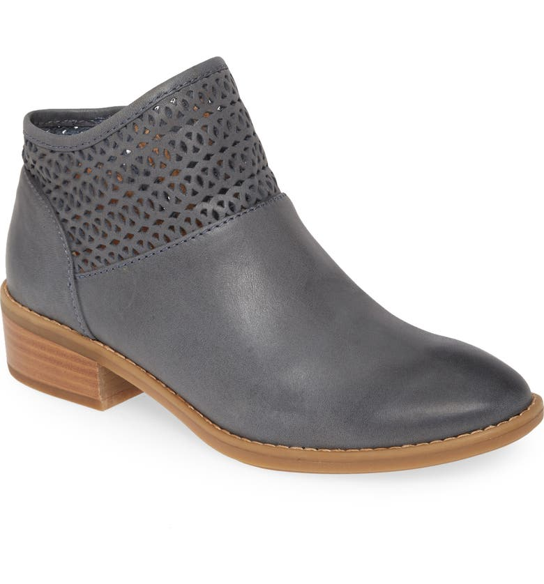 COMFORTIVA Cailean Bootie, Main, color, DENIM BLUE LEATHER