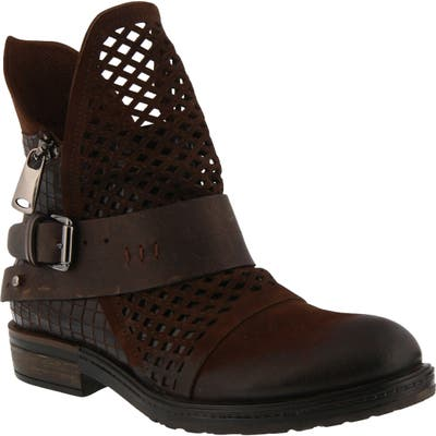 Spring Step Gavotta Cutout Boot, Brown