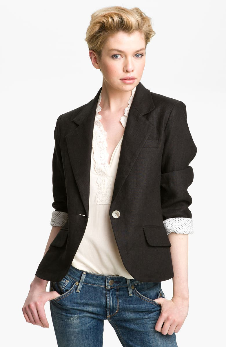 GIBSON Linen Blazer, Main, color, 001