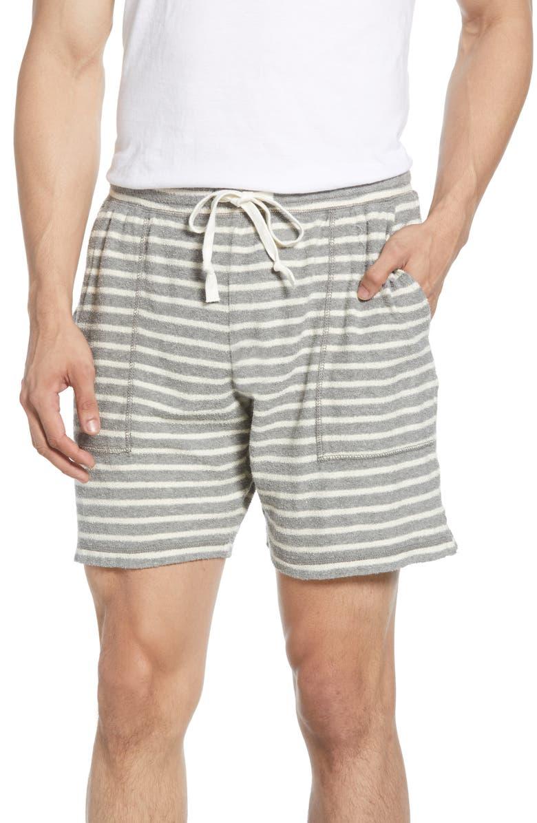 BONOBOS Slim Fit Bouclé 7-Inch Shorts, Main, color, GREY W/ NATURAL