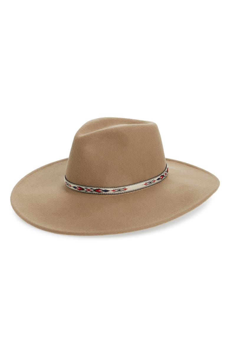Wide Brim Wool Panama Hat by Noake