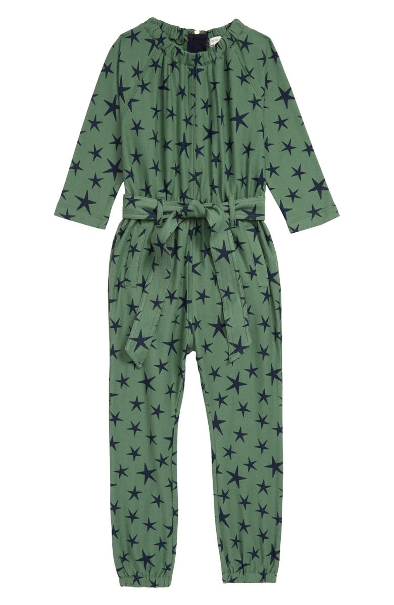 CREWCUTS BY J.CREW Stars Jumpsuit, Main, color, GREEN NAVY
