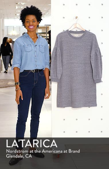 Bubble Sleeve Sweatshirt Dress, sales video thumbnail