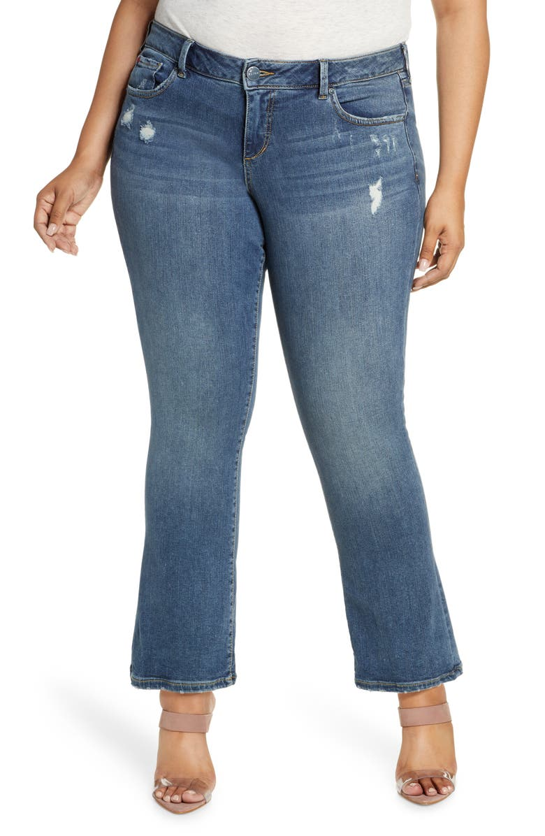 SLINK JEANS Distressed Bootcut Jeans, Main, color, 463