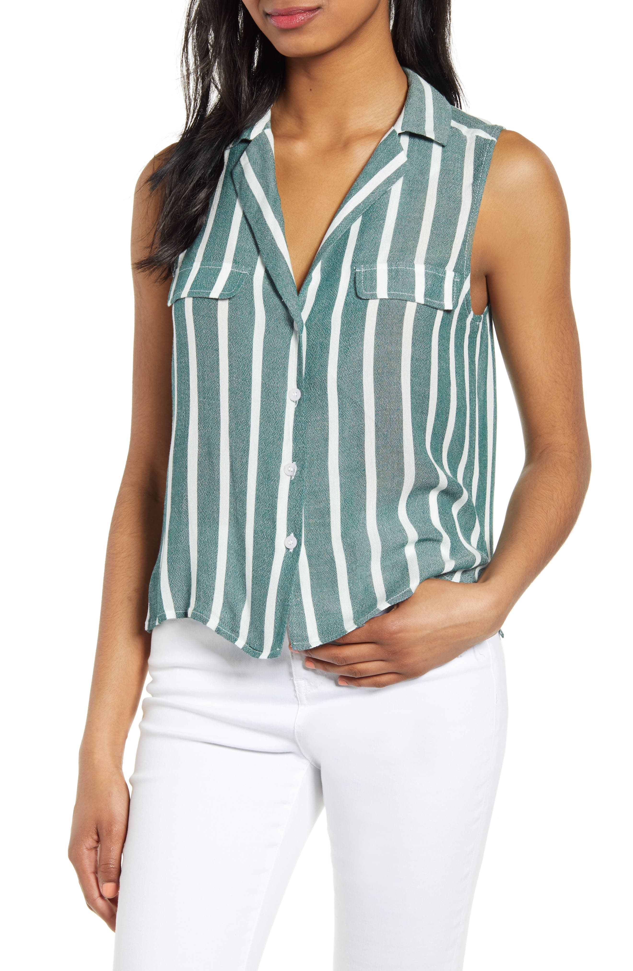 Plus Size Bp. Sleeveless Shirt, Green