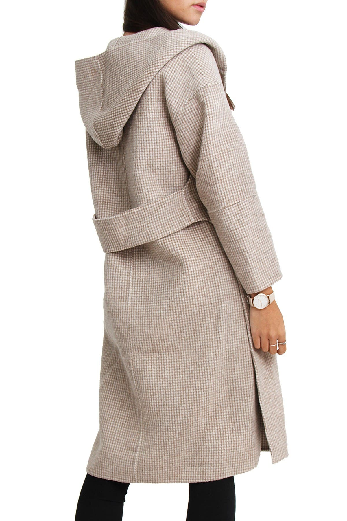 Image of Belle & Bloom Walk This Way Wool Blend Oversized Coat