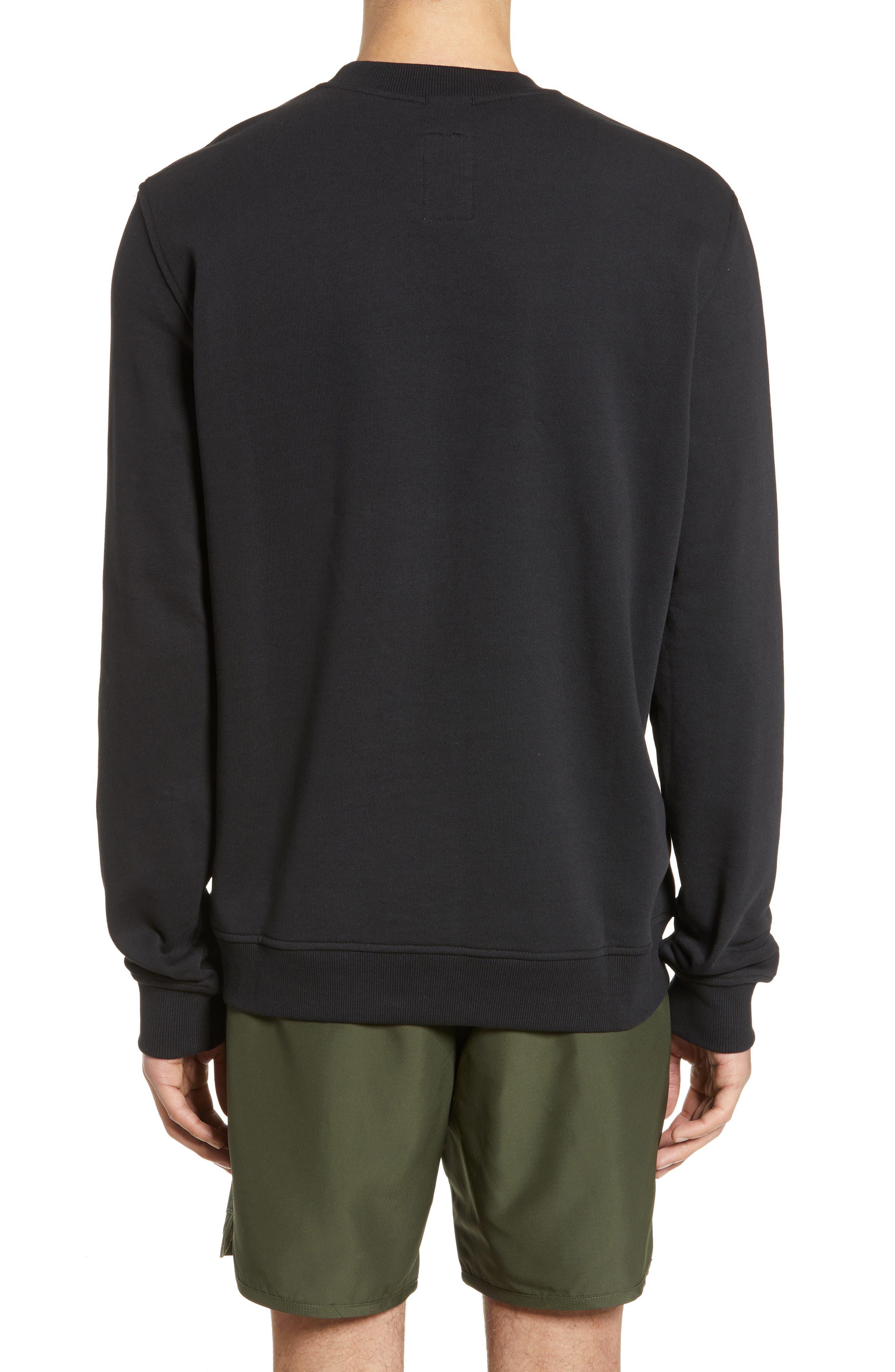,                             Crewneck Sweatshirt,                             Alternate thumbnail 2, color,                             BLACK