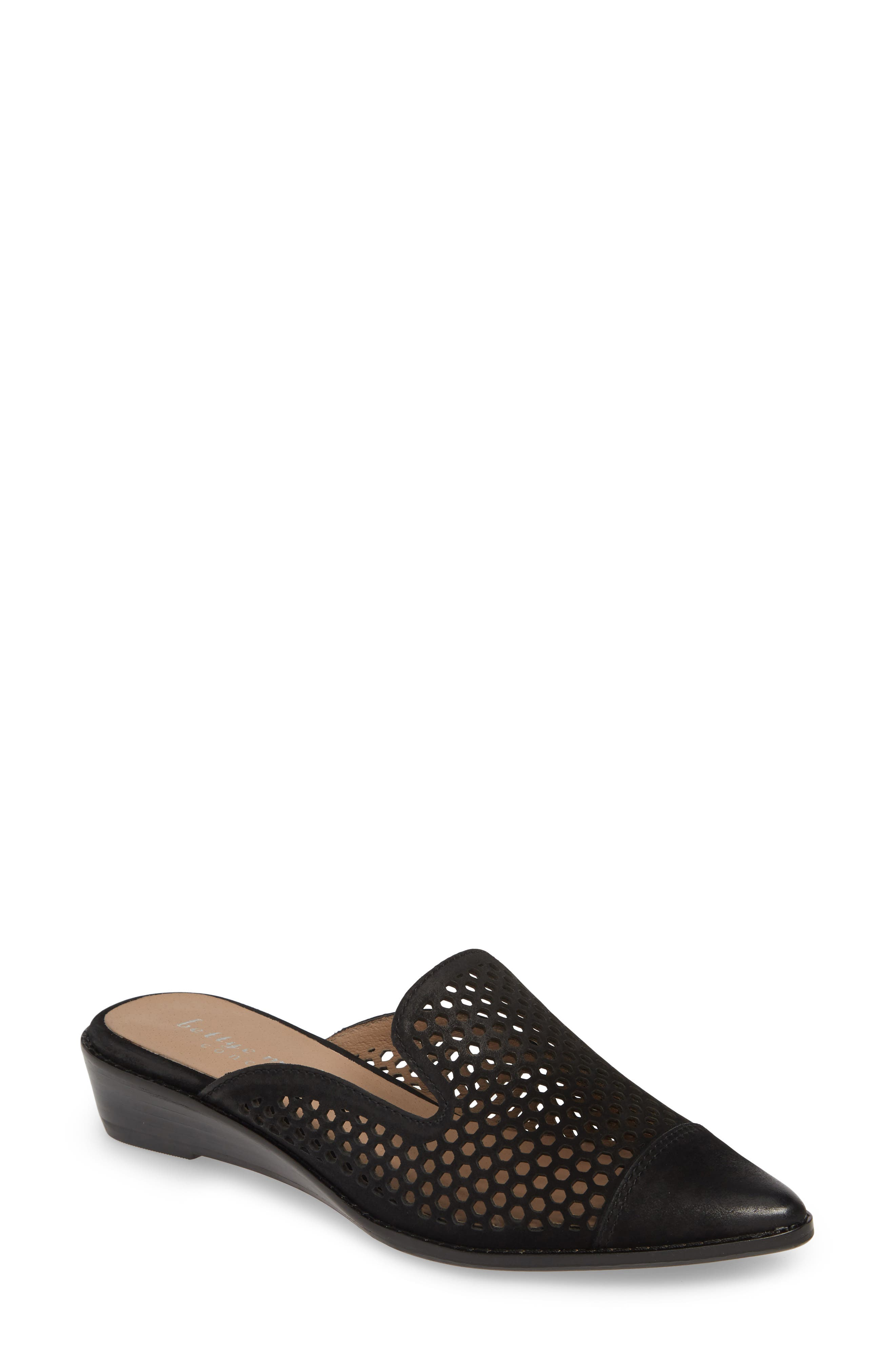 Image of BETTYE MULLER CONCEPTS Cara Leather Perforated Mule