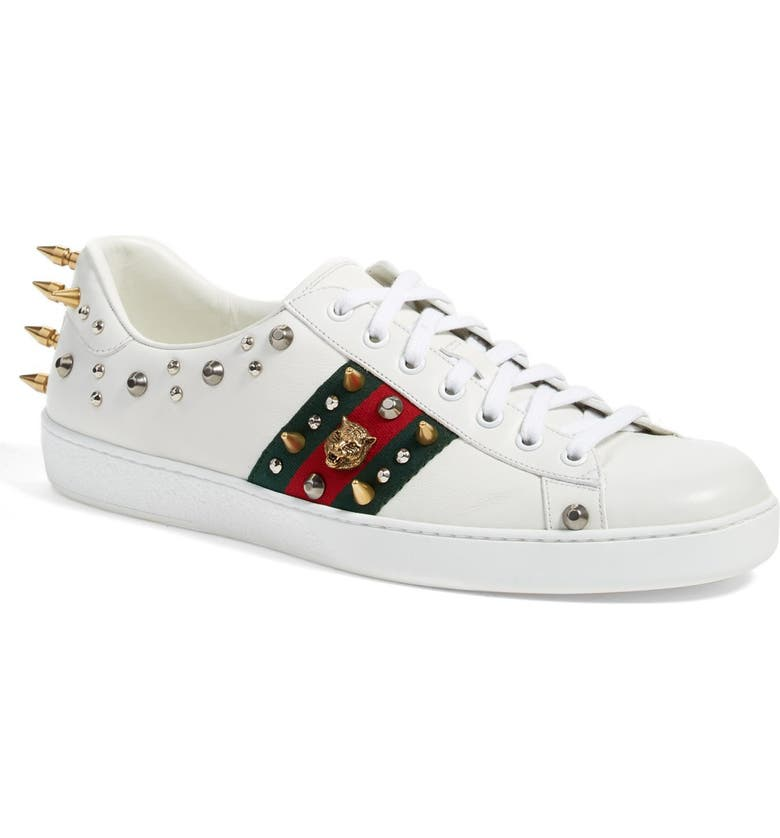 a2f4f99cb3f Gucci 'New Ace Punk' Studded Sneaker (Men) | Nordstrom