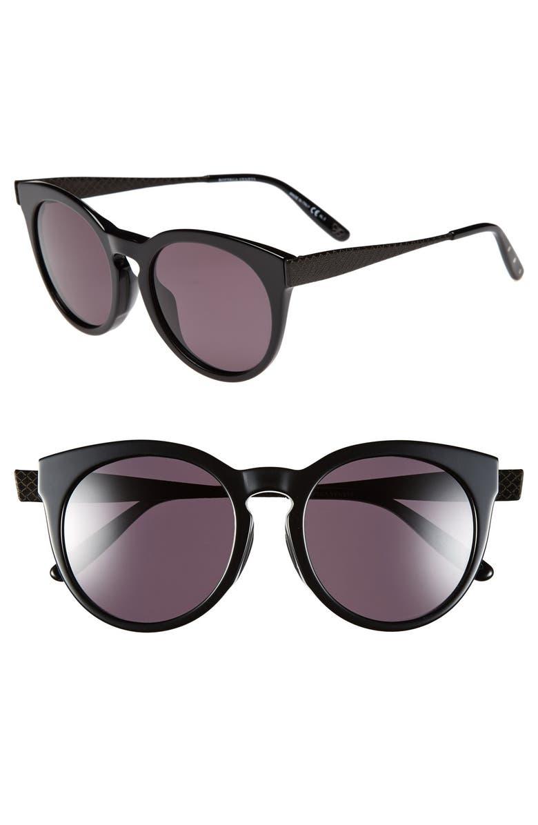 BOTTEGA VENETA 52mm Special Fit Sunglasses, Main, color, 001