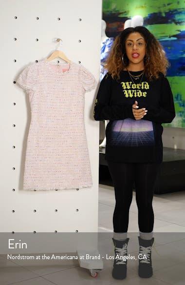 puff sleeve tweed dress, sales video thumbnail