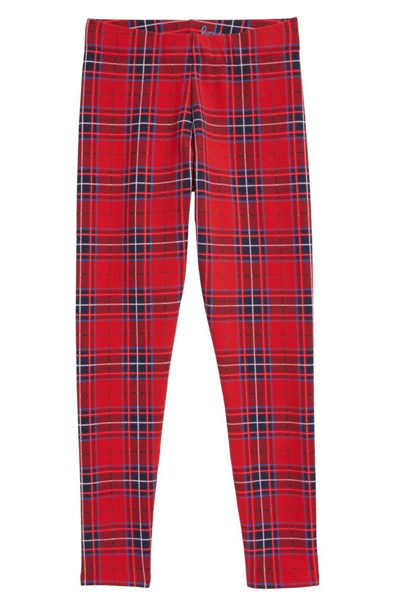 MINI BODEN Fun Cozy Leggings, Main, color, ROCKABILLY RED CHECK