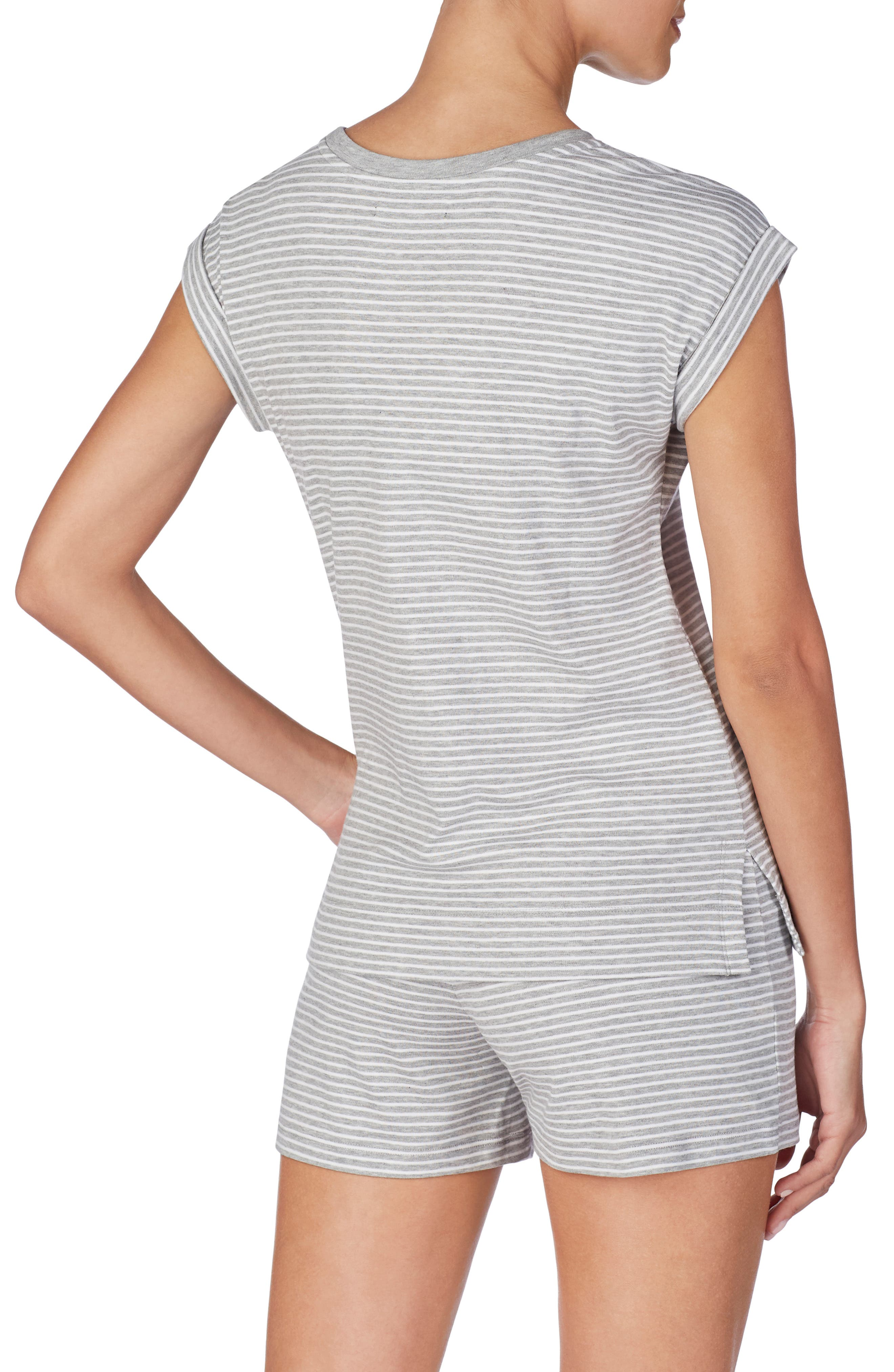 ,                             Knit Pajama Top,                             Alternate thumbnail 2, color,                             GREY STRIPE