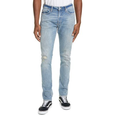 Ovadia Ripped Skinny Fit Jeans, Blue