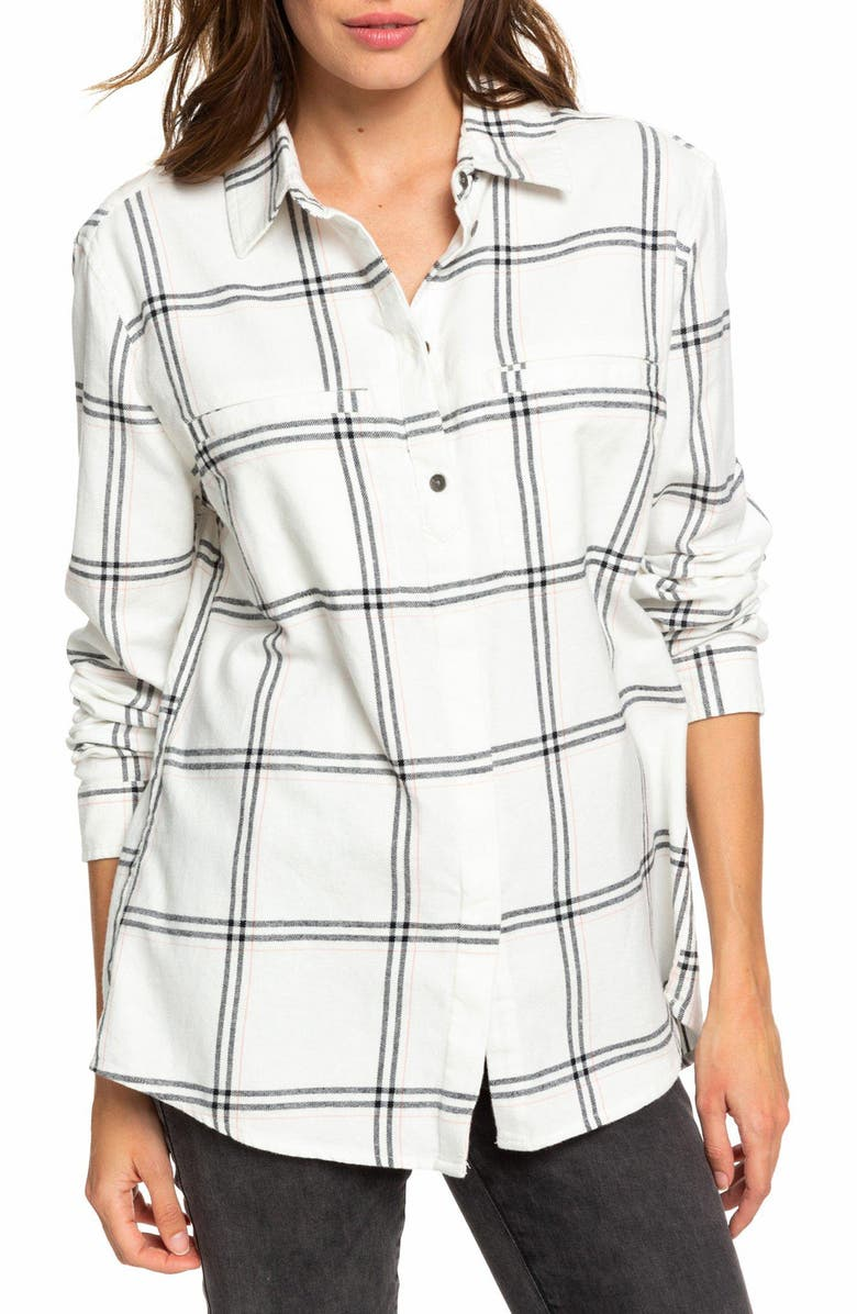 e1acbca9ef Roxy Young Again Plaid Flannel Shirt | Nordstrom