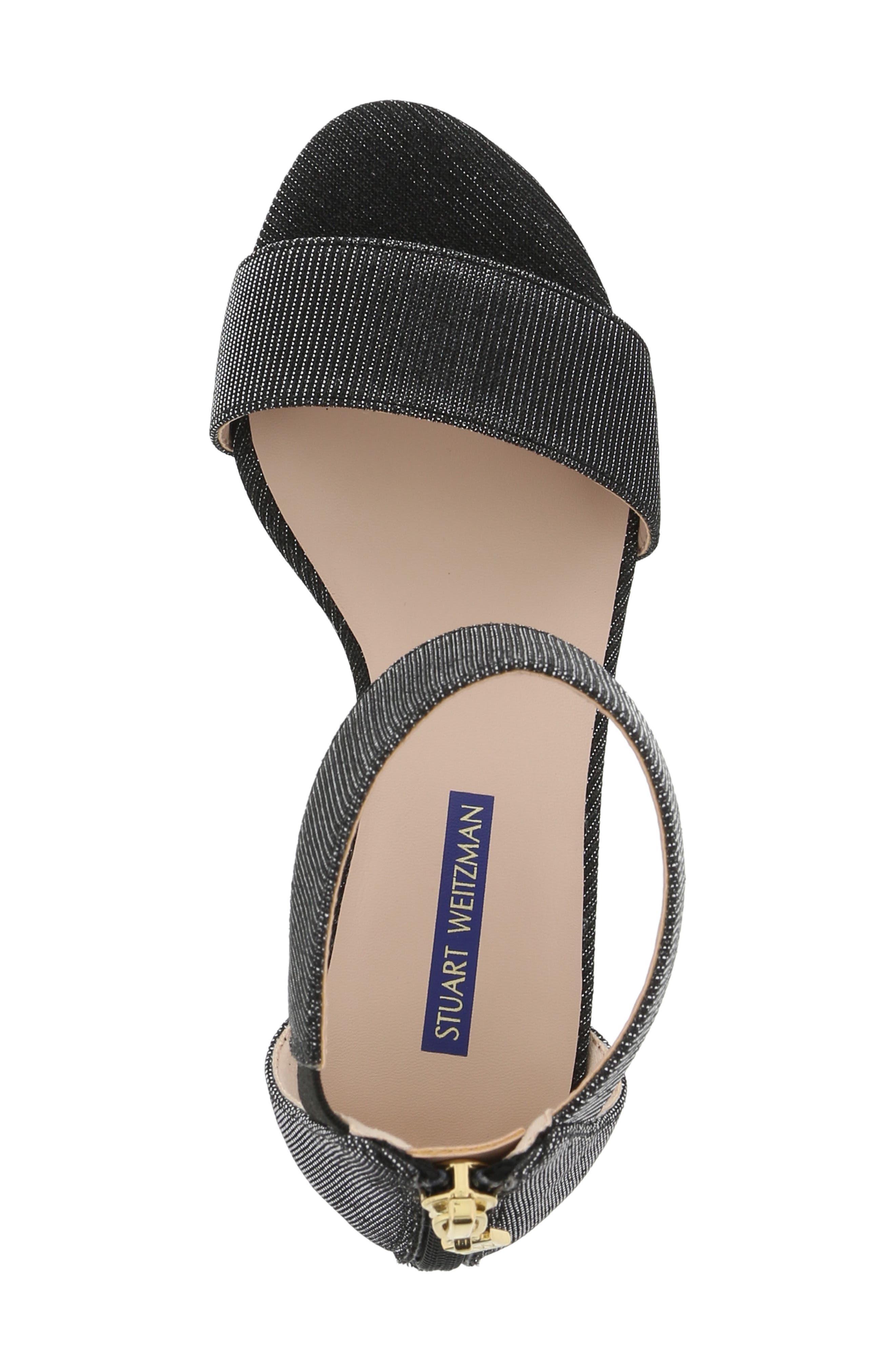 ,                             Rosalyn Alexa Sparkle Sandal,                             Alternate thumbnail 5, color,                             BLACK
