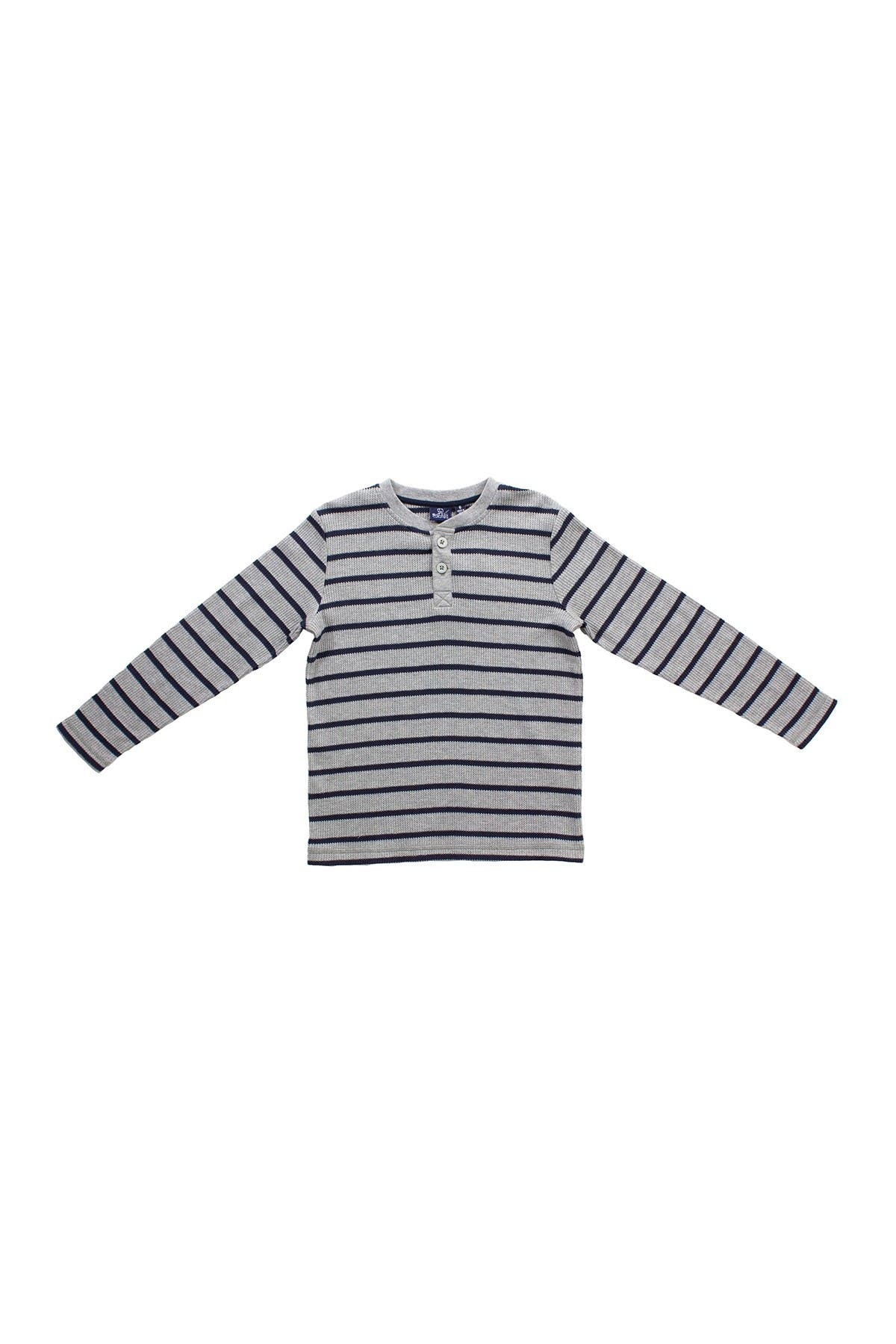 Image of BEAR CAMP Striped Henley Tee