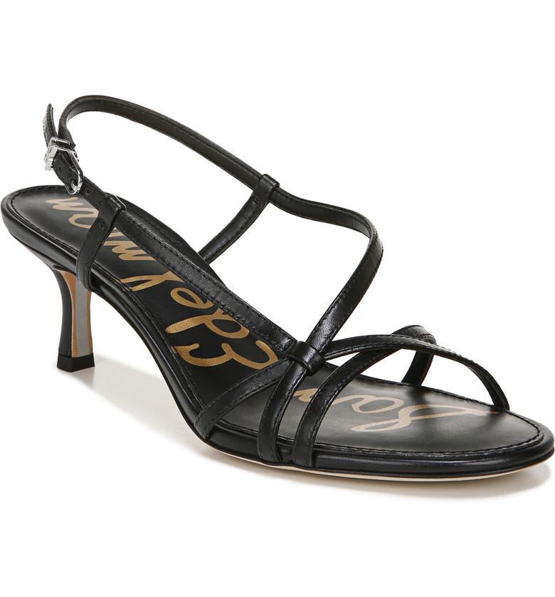 SAM EDELMAN Judy Strappy Slingback Sandal, Main, color, BLACK LEATHER