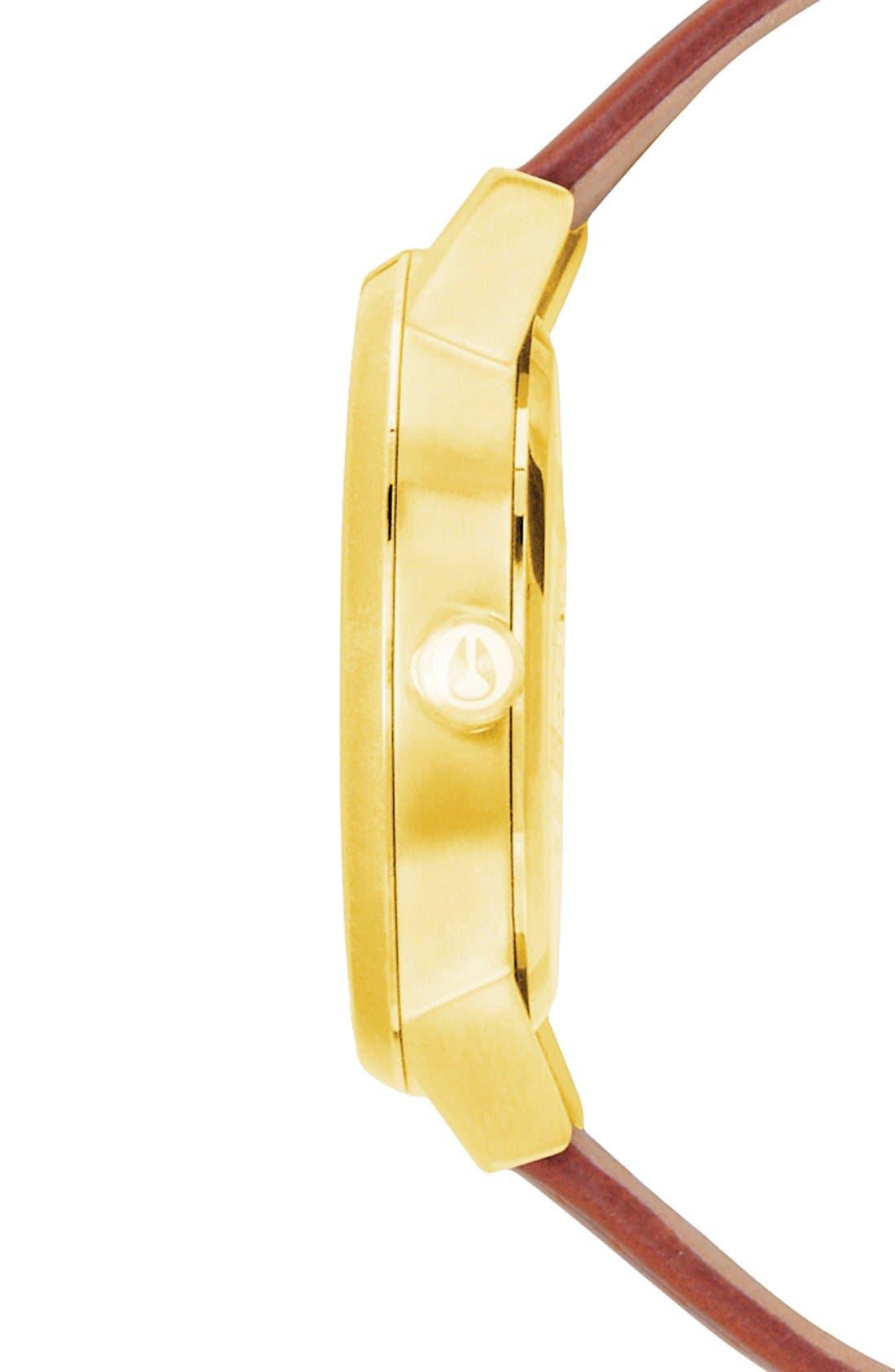 ,                             'The Kensington' Leather Strap Watch, 37mm,                             Alternate thumbnail 28, color,                             200