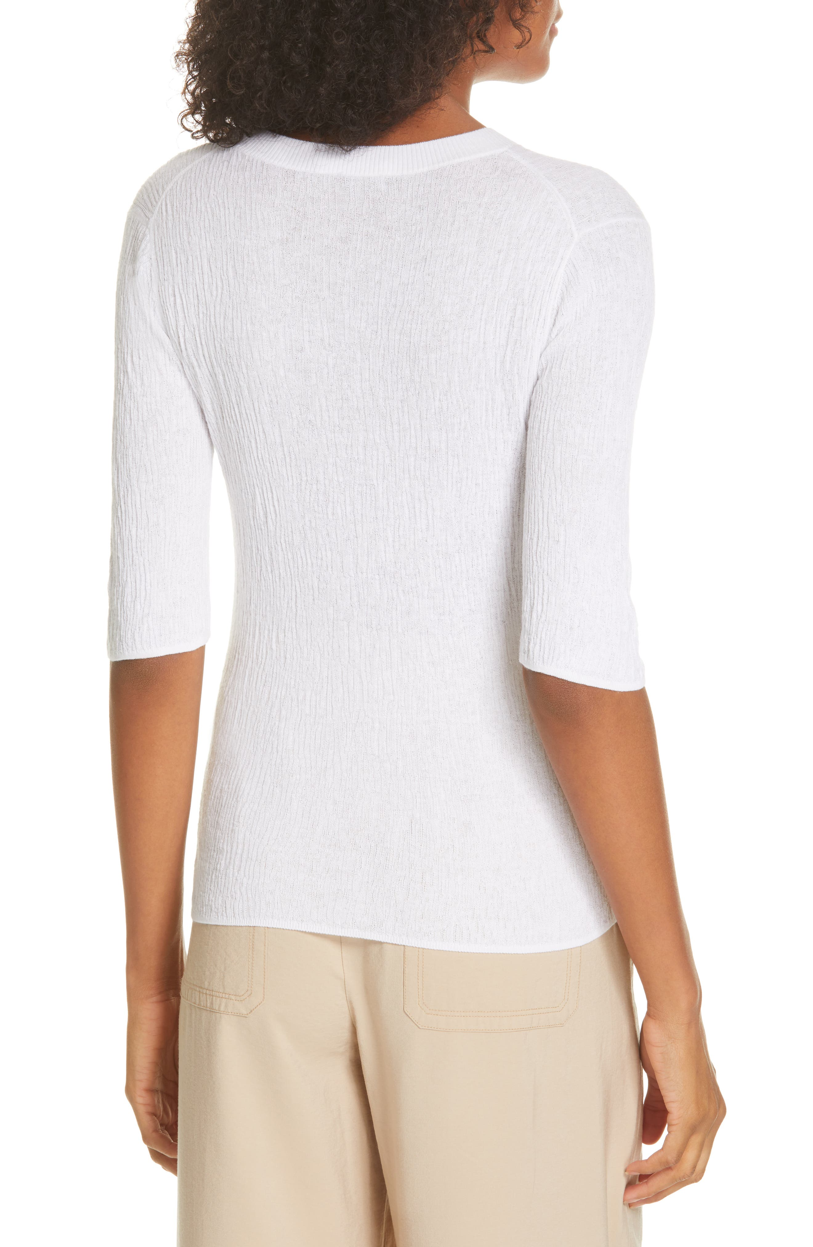 ,                             Broomstick Pleat Cotton Top,                             Alternate thumbnail 2, color,                             OPTIC WHITE