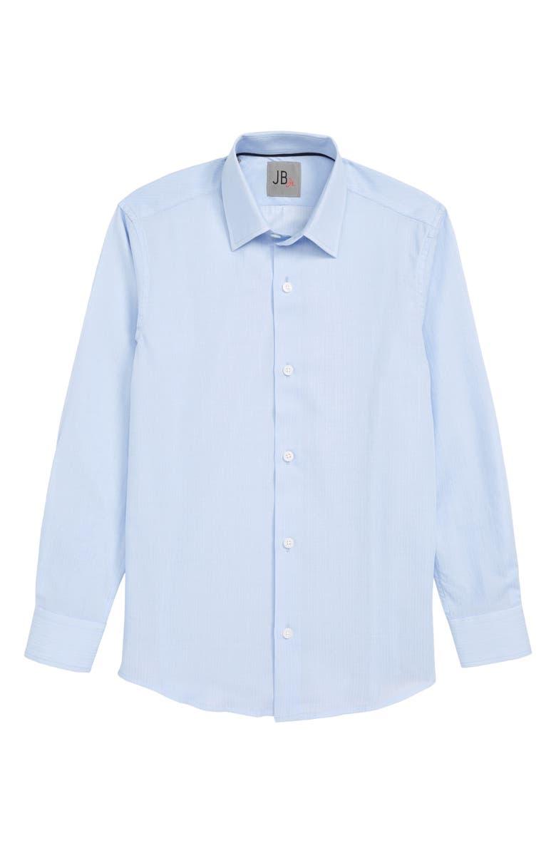 JB JR Solid Dress Shirt, Main, color, BLUE