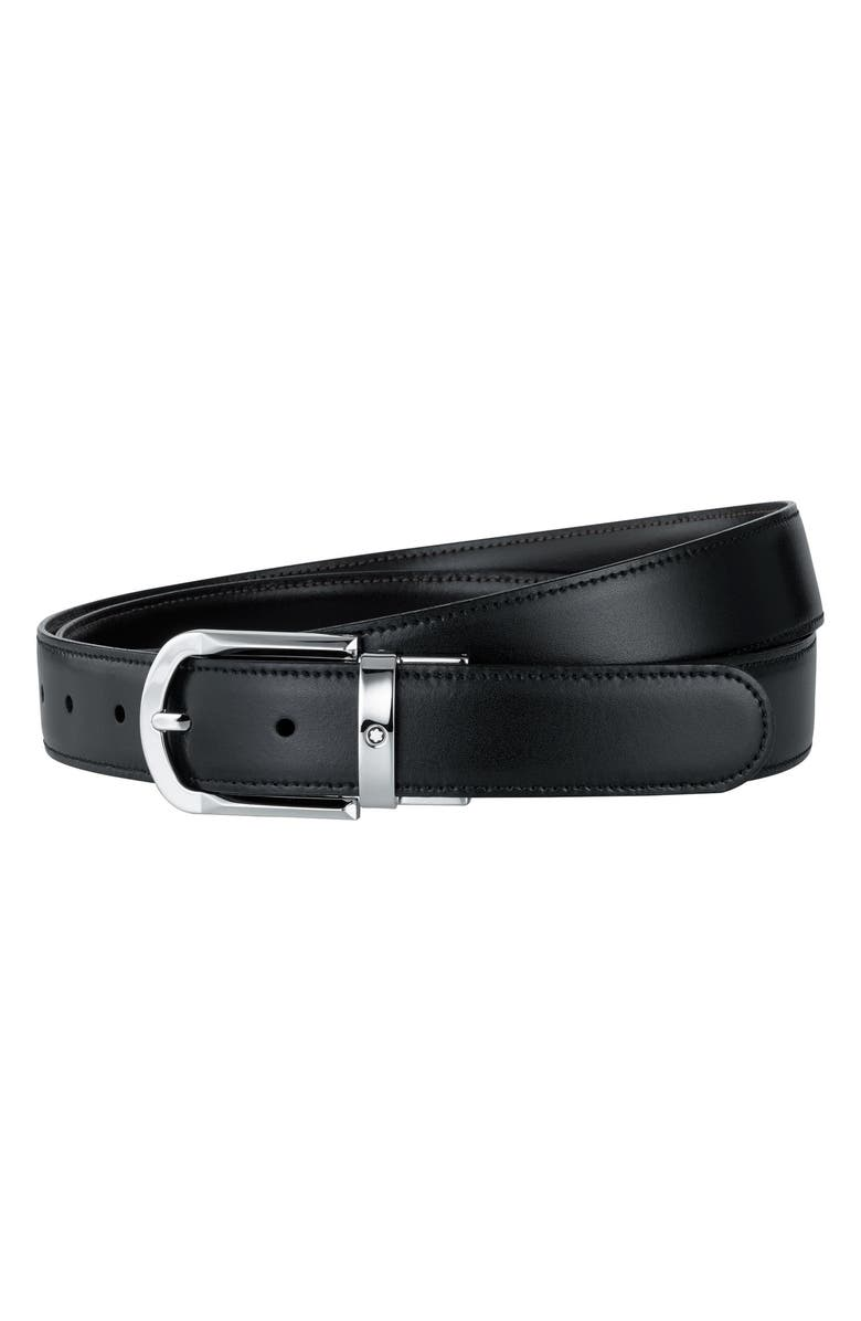 MONTBLANC Reversible Leather Belt, Main, color, BLACK/ BROWN