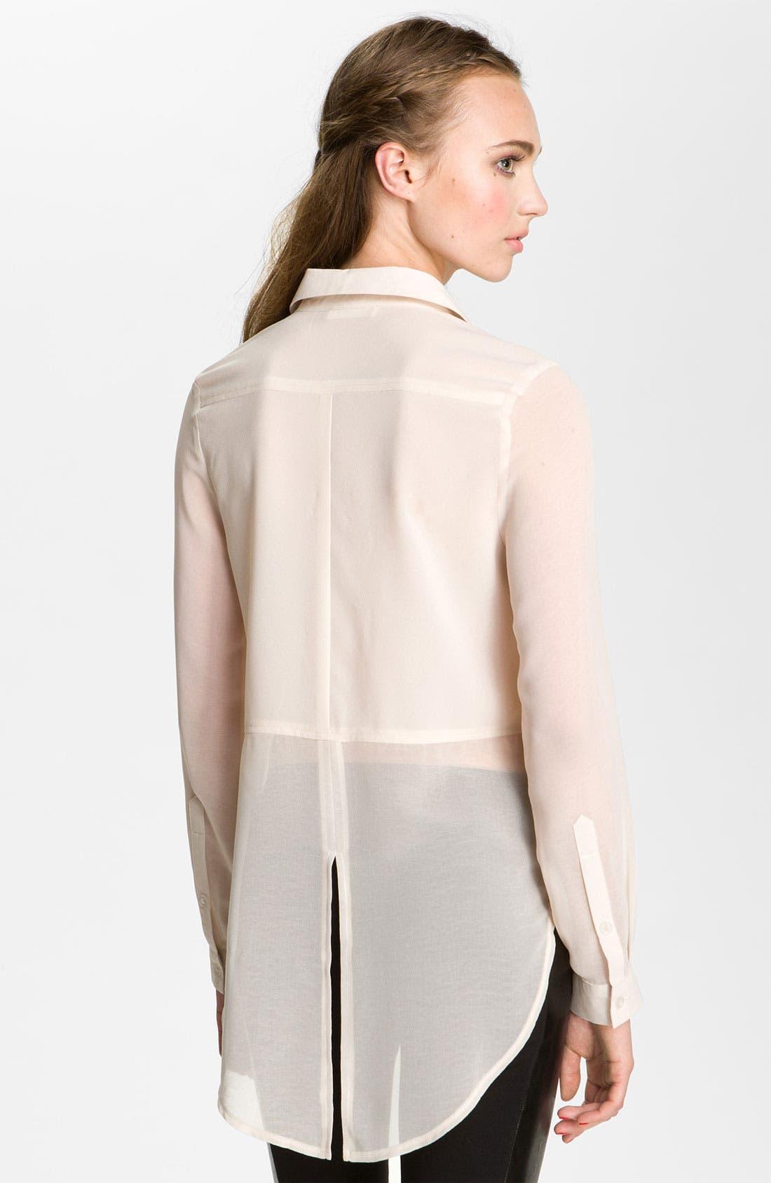 ,                             Lush Sheer Panel High/Low Shirt,                             Alternate thumbnail 23, color,                             900
