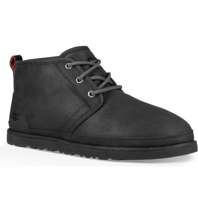 UGG<SUP>®</SUP> Neumel Waterproof Chukka Boot, Main, color, BLACK