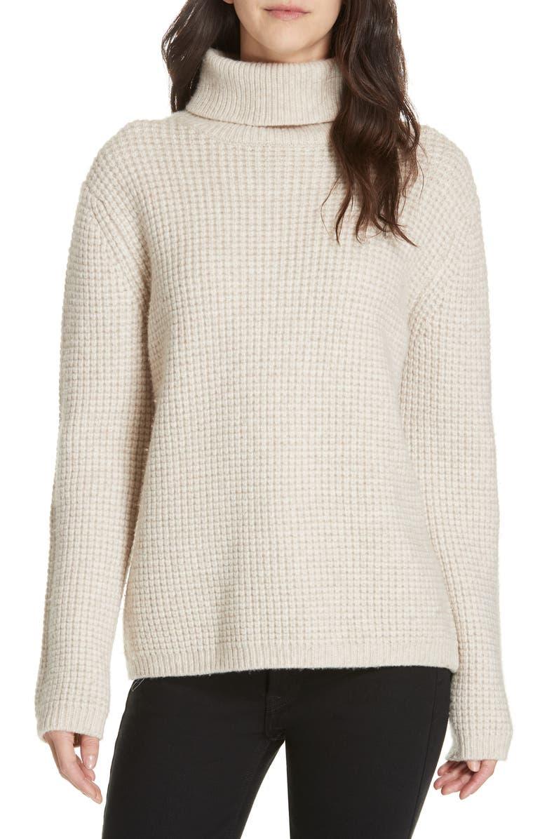 JENNI KAYNE Seattle Turtleneck Sweater, Main, color, OATMEAL