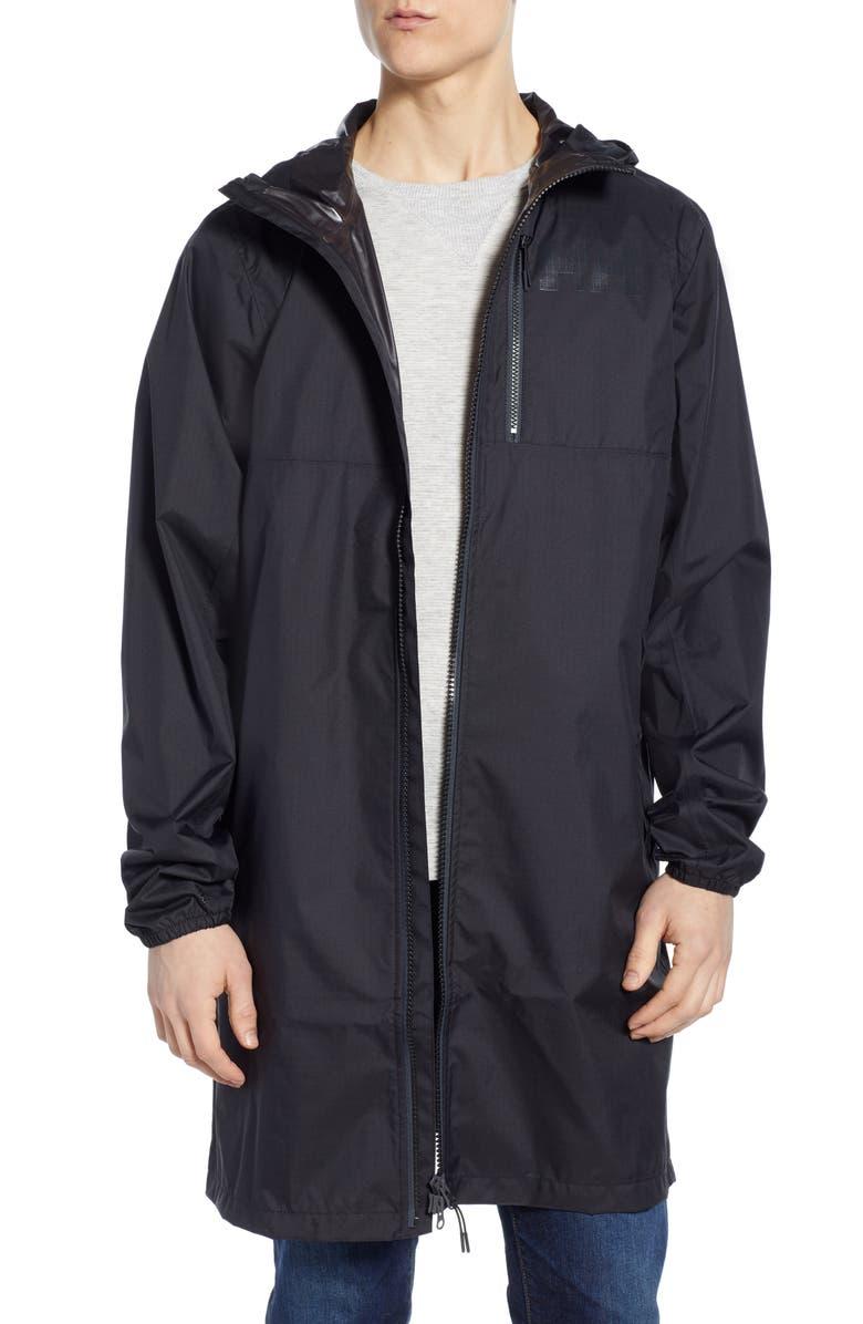 HELLY HANSEN Belfast Waterproof Packable Rain Coat, Main, color, 001