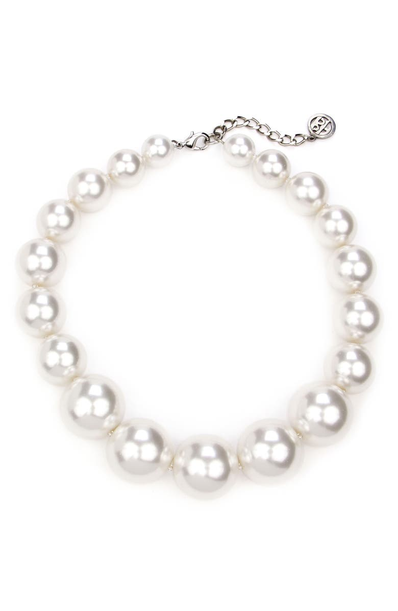 BEN-AMUN Imitation Pearl Collar Necklace, Main, color, 100