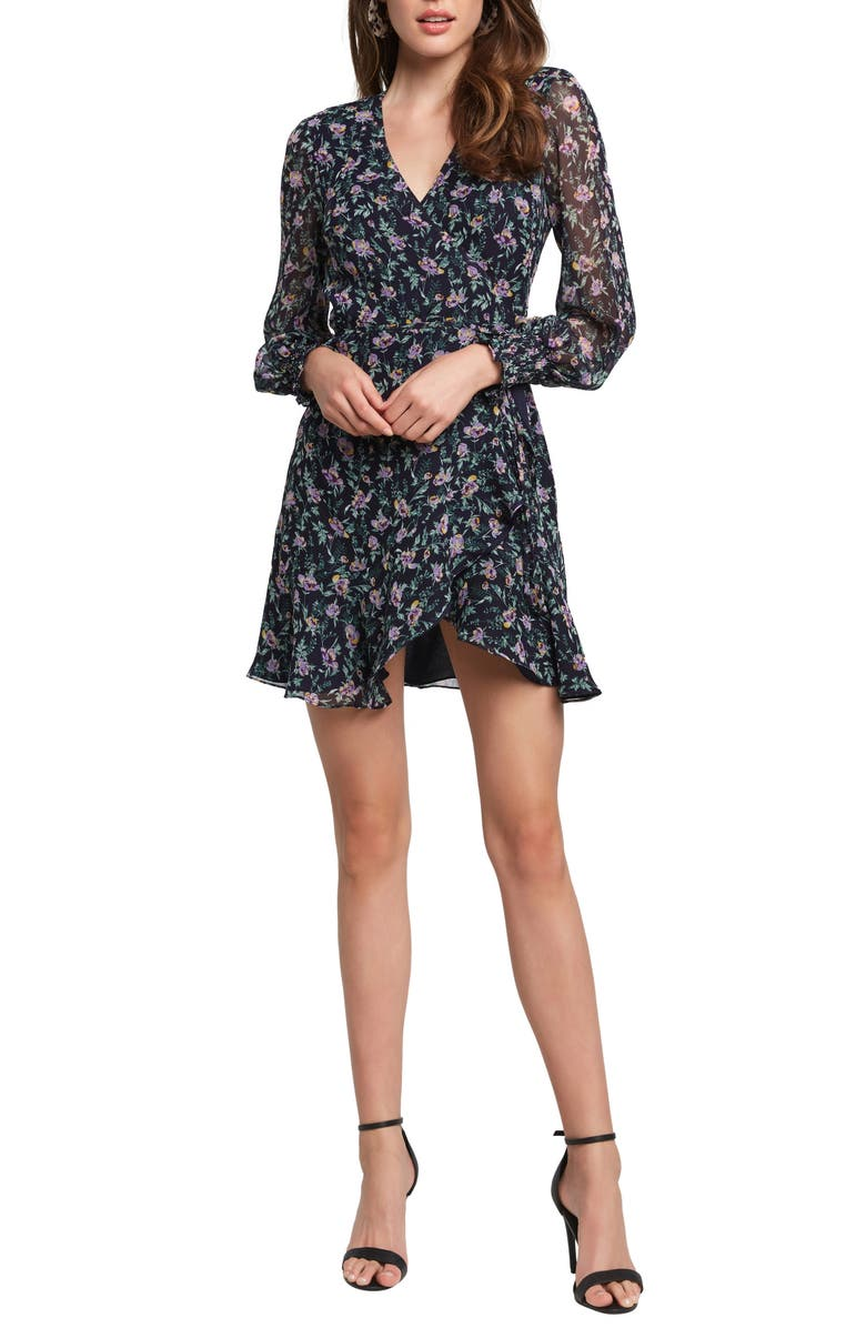 BARDOT Miley Floral Minidress, Main, color, 300