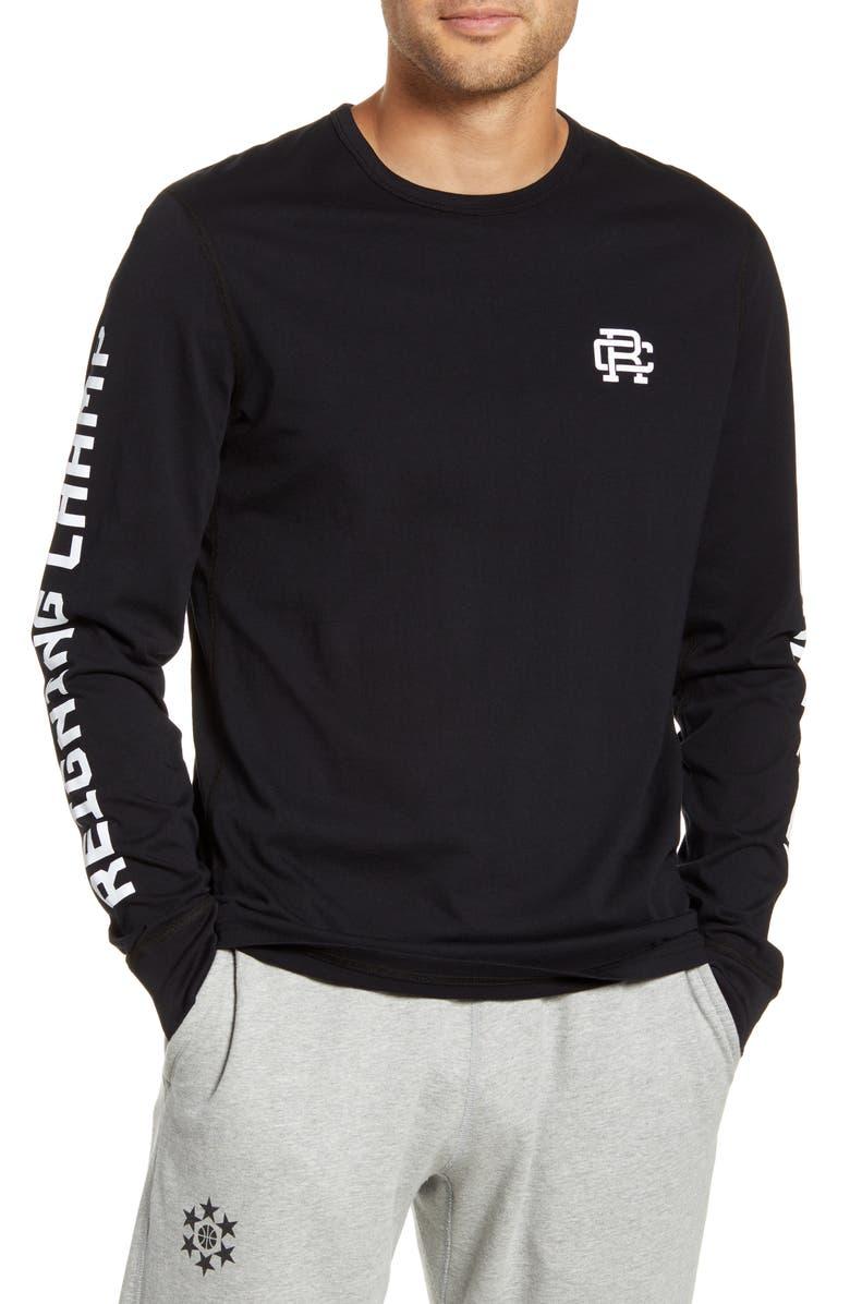 REIGNING CHAMP Football Club Long Sleeve T-Shirt, Main, color, BLACK