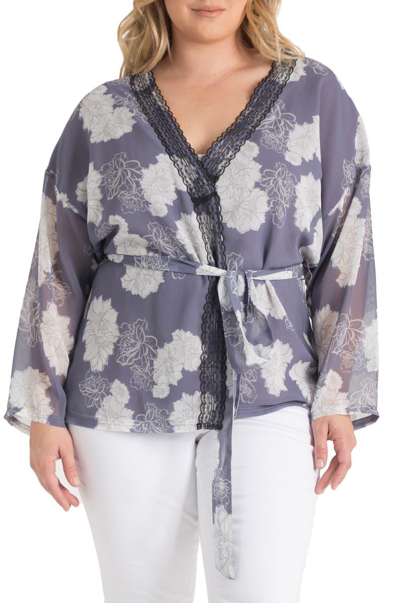 STANDARDS & PRACTICES Irma Tie Front Jacket, Main, color, PURPLE