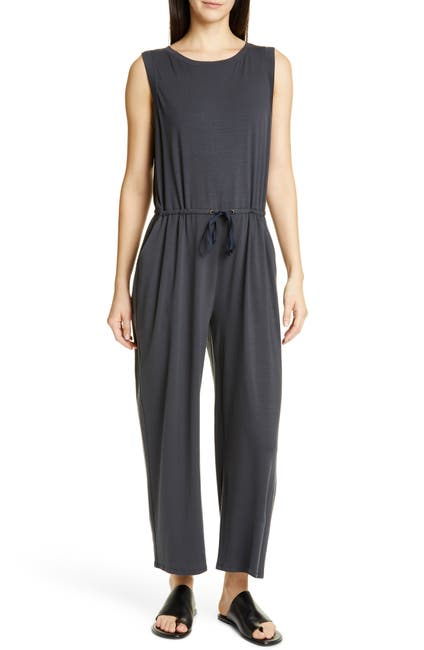 Image of Eileen Fisher Stretch Sleeveless Jumpsuit