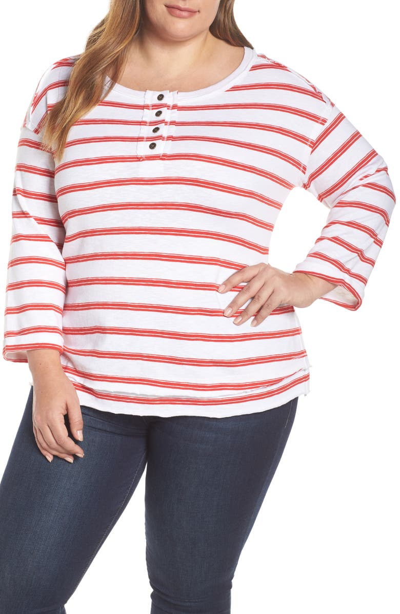 CASLON<SUP>®</SUP> Striped Henley, Main, color, 102
