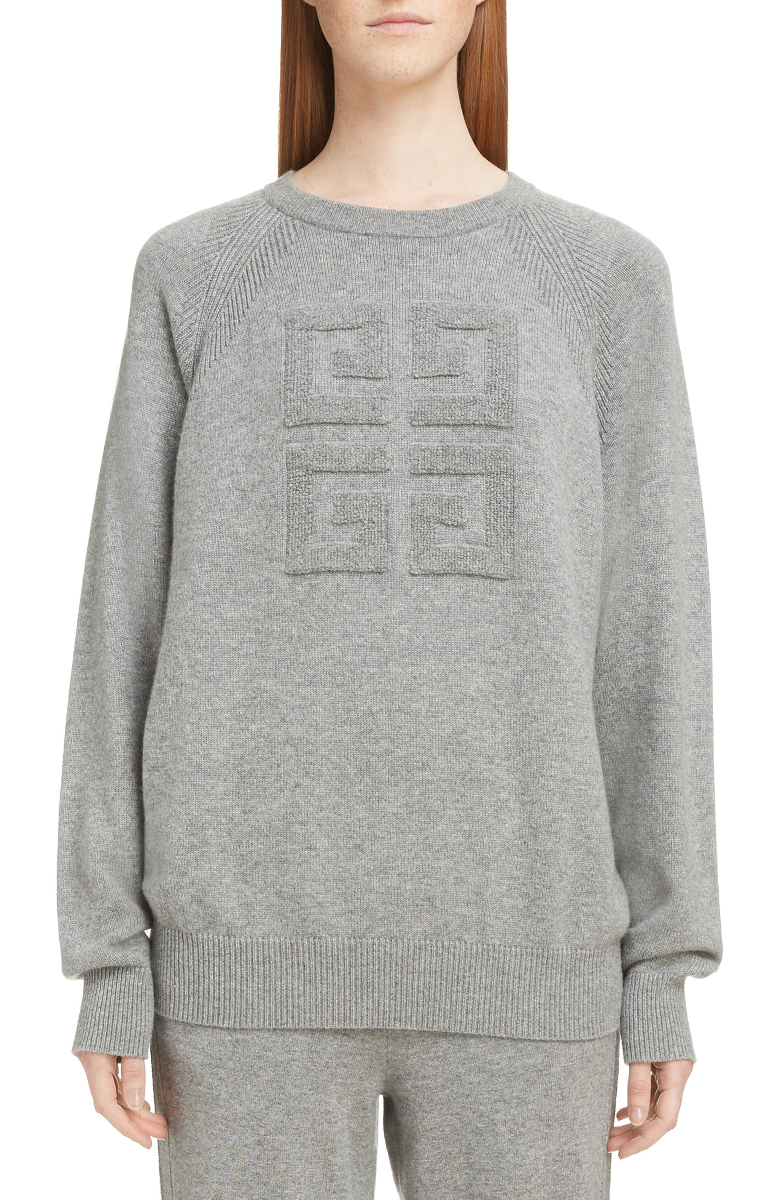 ,                             Embossed Logo Cashmere Sweater,                             Main thumbnail 7, color,                             020