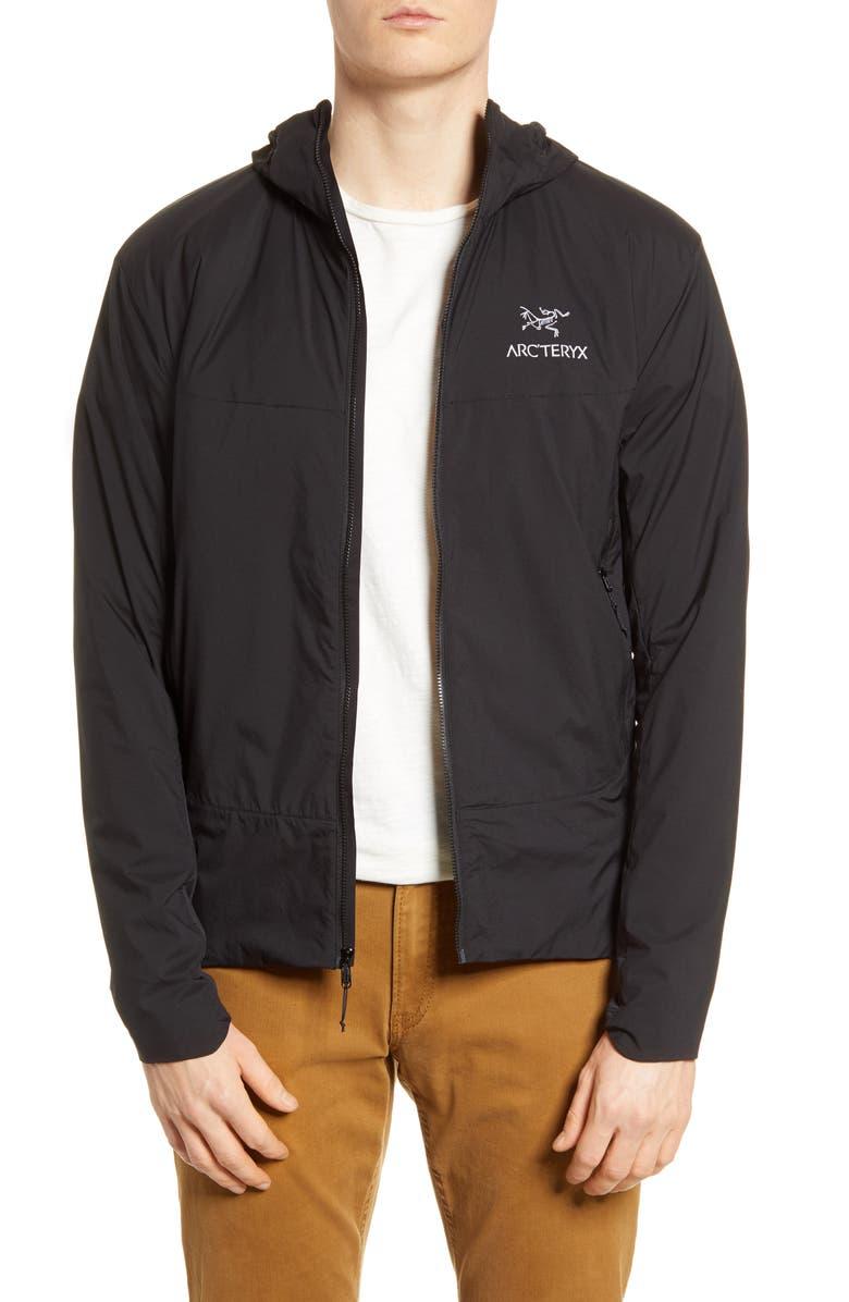 ARC'TERYX Atom SL Water Repellent Hooded Jacket, Main, color, 001
