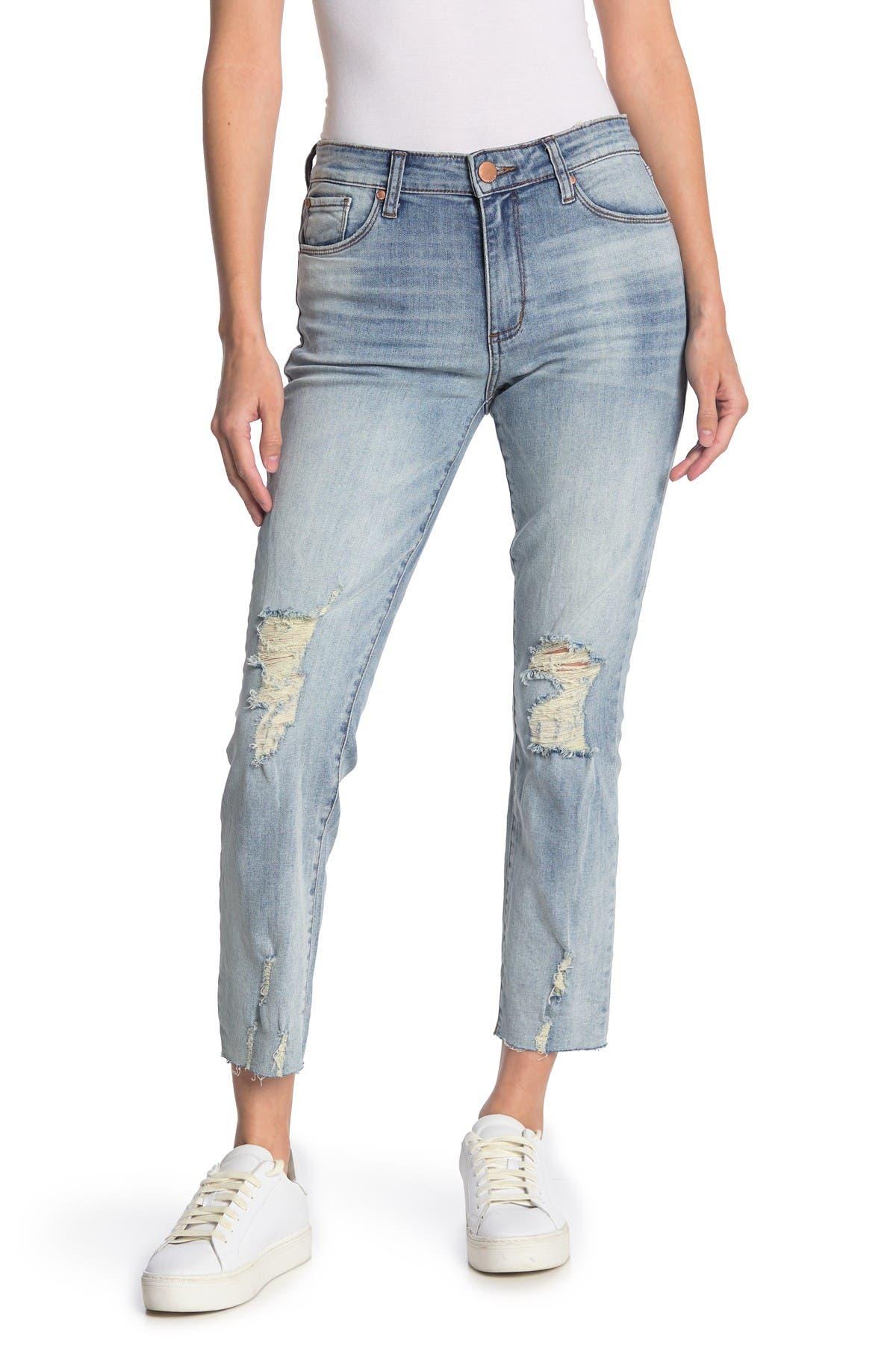 Image of STS BLUE Caroline Distressed Straight Leg Jeans