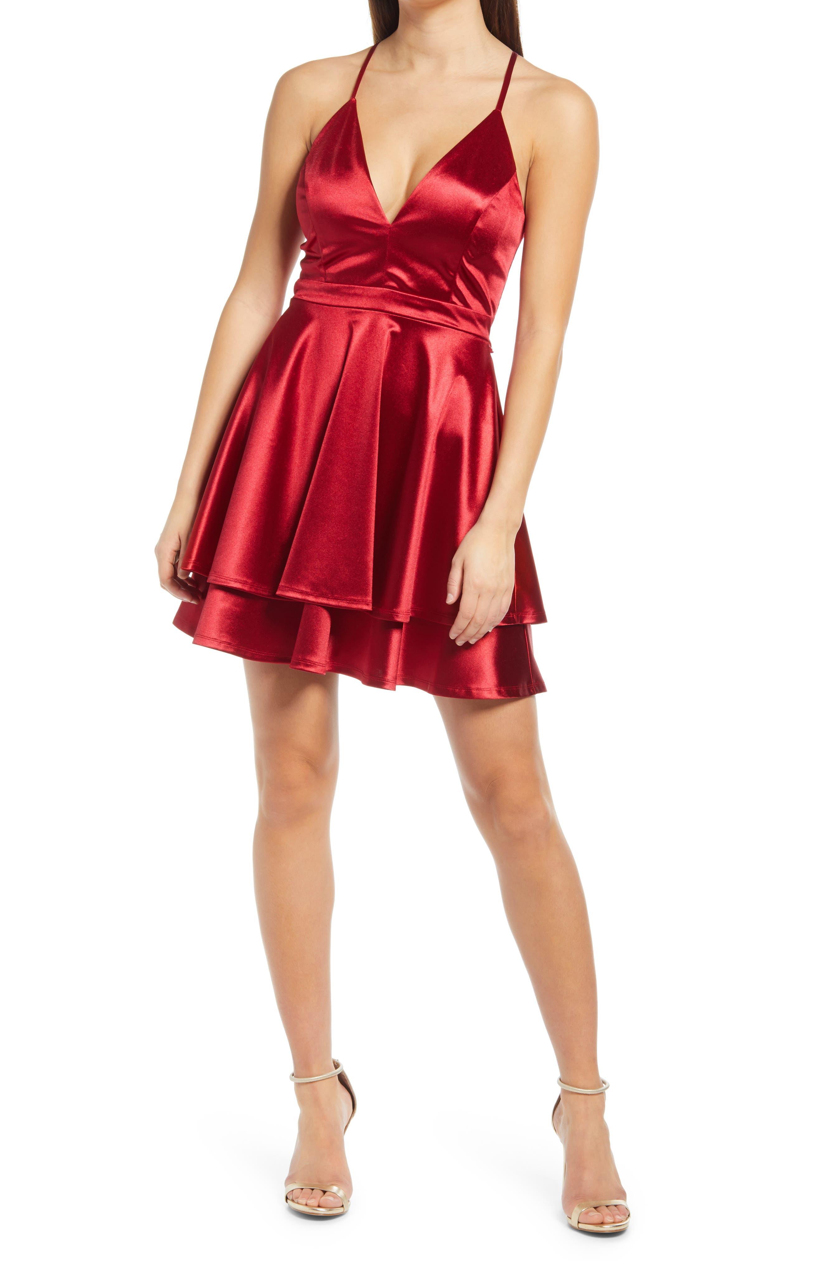 Lace Back Skater Dress