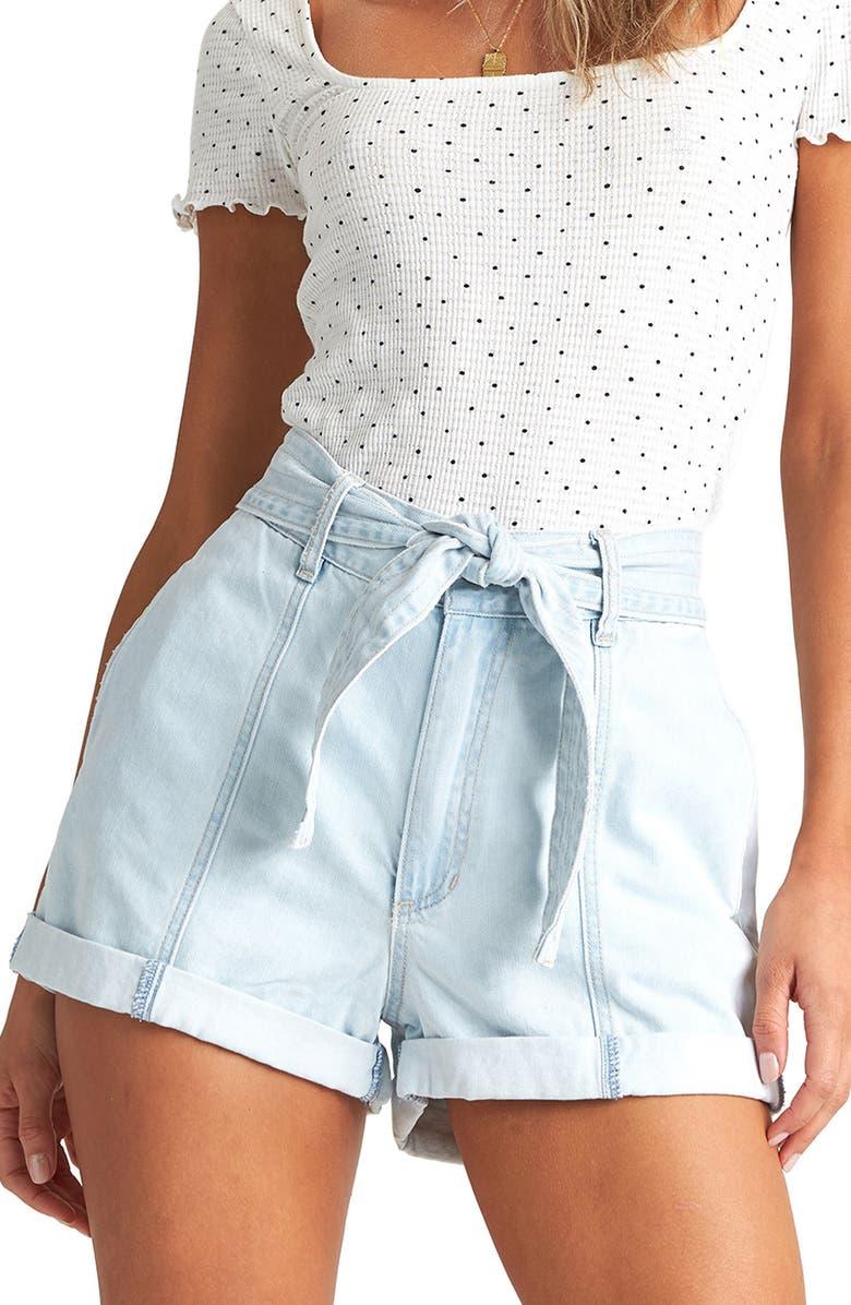 BILLABONG Day After Day Denim Shorts, Main, color, ACID RINSE