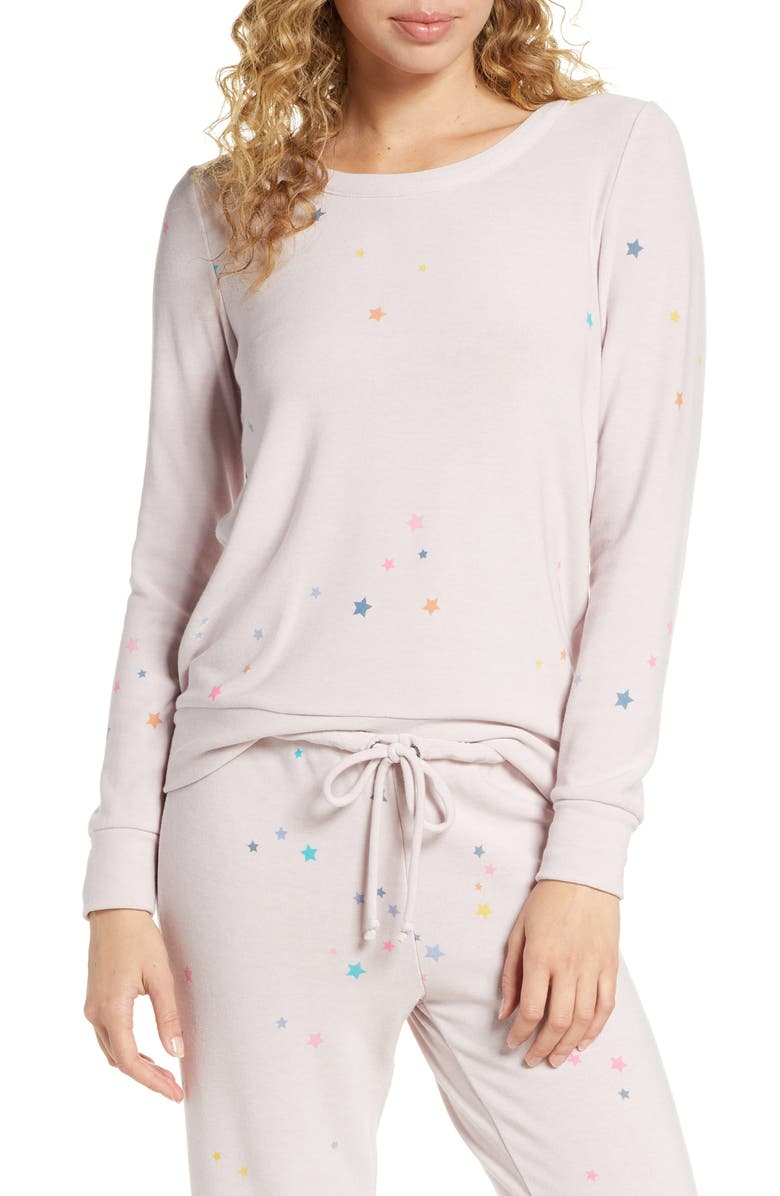 CHASER Star Cozy Pullover, Main, color, 650