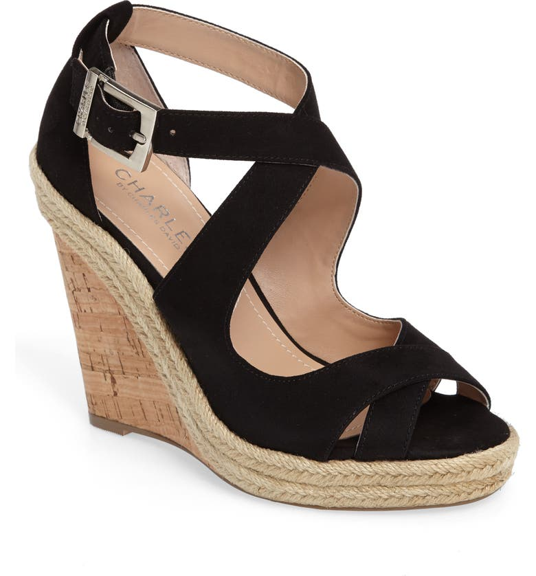 CHARLES BY CHARLES DAVID Belfast Strappy Wedge Sandal, Main, color, 001