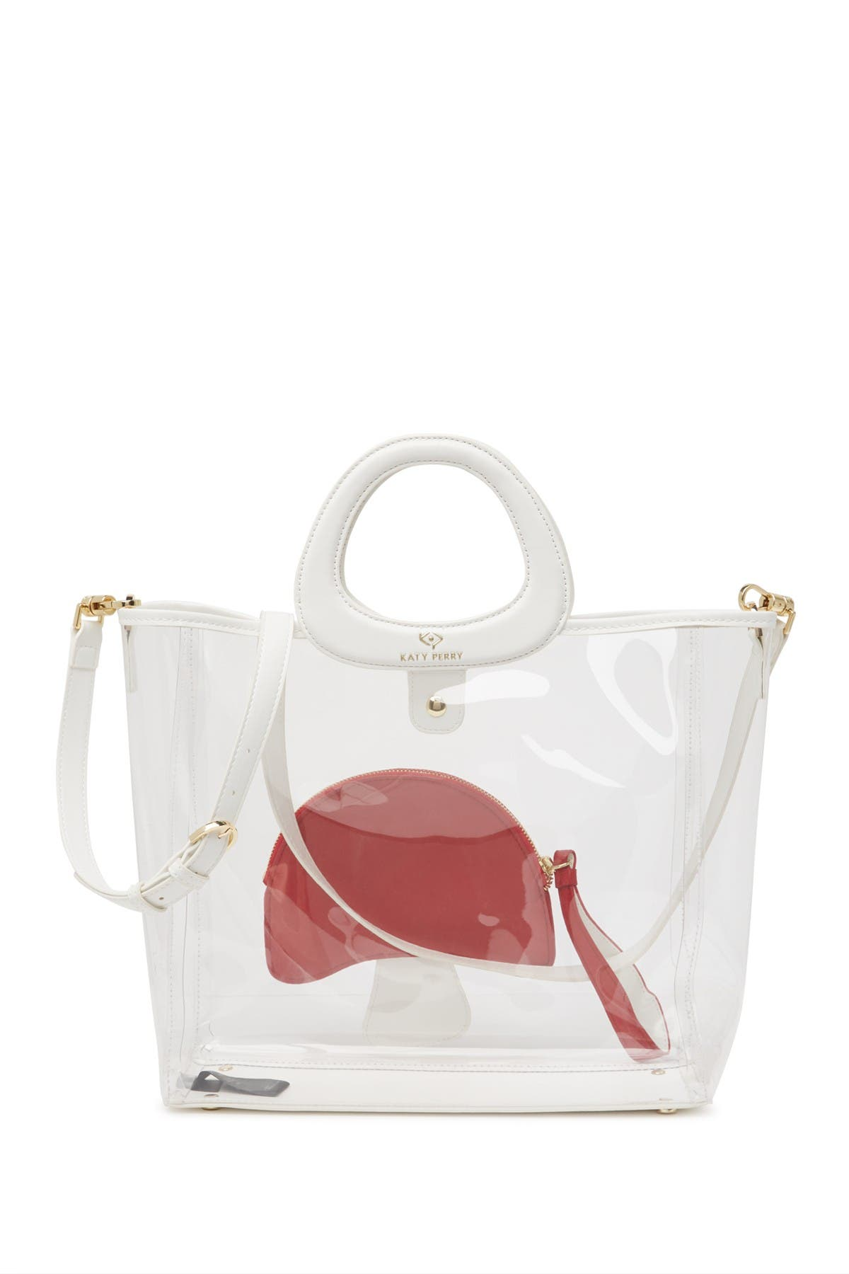 Image of Katy Perry Waves Mushroom Geli Transparent Wristlet Grab Bag