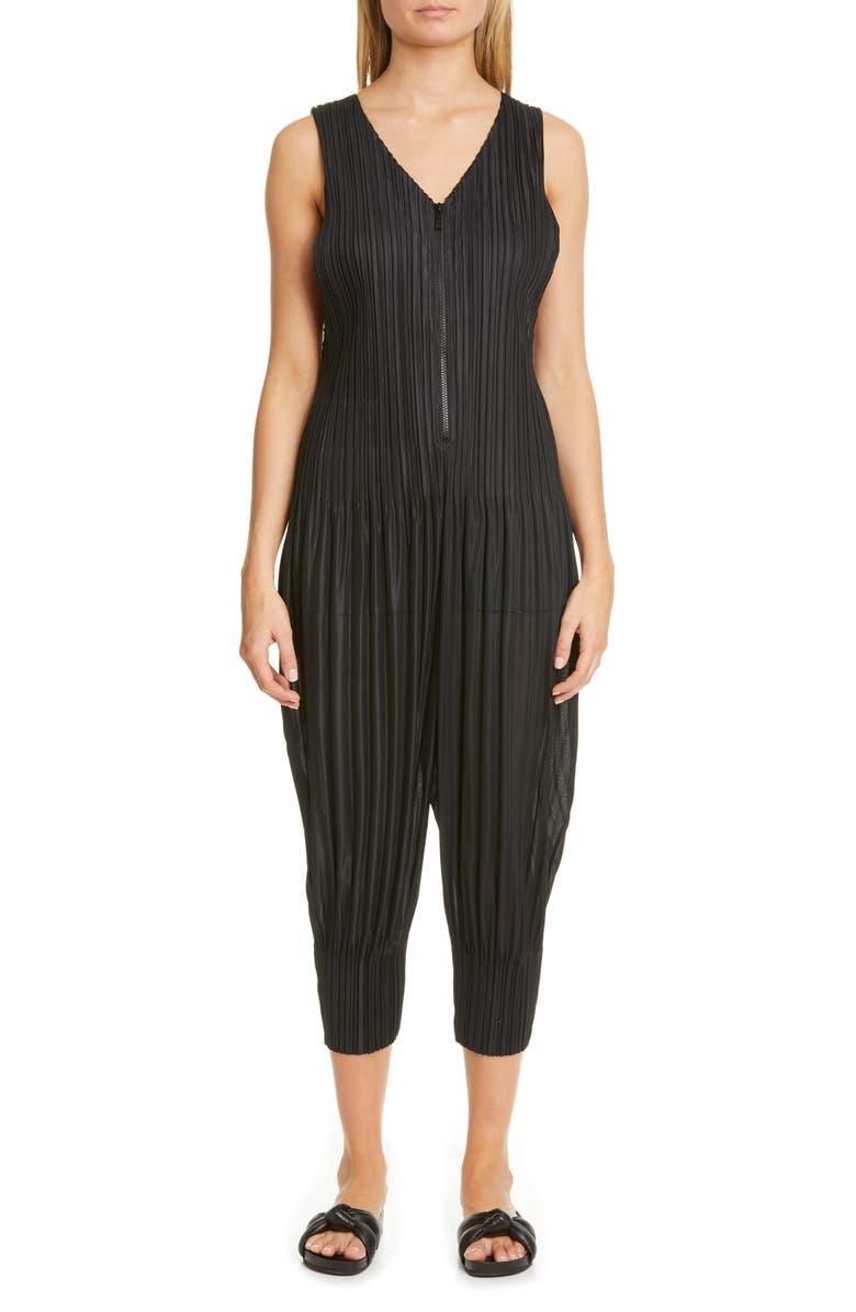 PLEATS PLEASE ISSEY MIYAKE Pleated Jumpsuit, Main, color, 15 BLACK