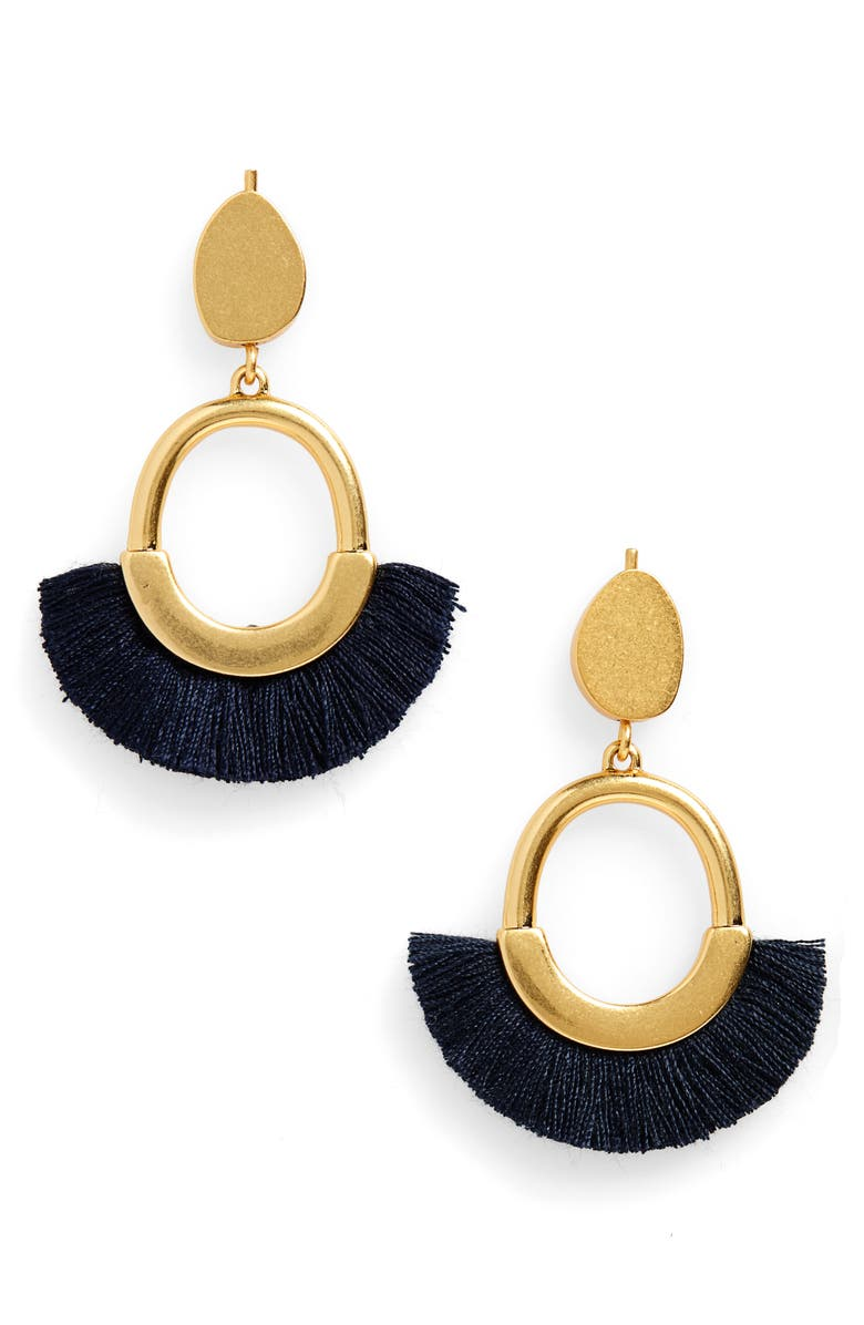 MADEWELL Fringe Statement Earrings, Main, color, 400