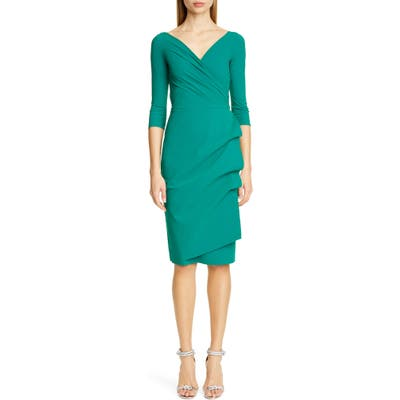 Chiara Boni La Petite Robe Florien Ruched Cocktail Dress, US / 42 IT - Green